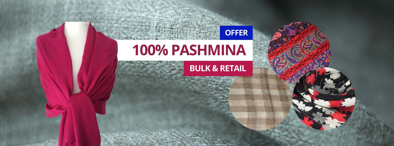 100% Hand made pashmina shawl