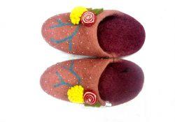 Felt Slepper- Standard Pashmina & Handicrafts House