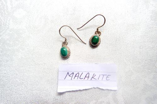 MALAKITE GREEN EAR RINGS- Standard Pashmina & Handicrafts House